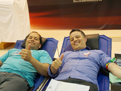 Primeira doação de sangue feita por uma Igreja na Bélgica