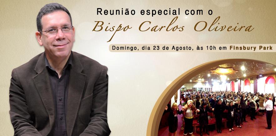 Reunião especial com o Bispo Carlos Oliveira