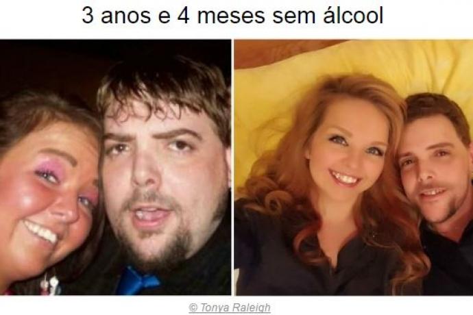 Veja o antes e depois de pessoas que deram adeus à bebida