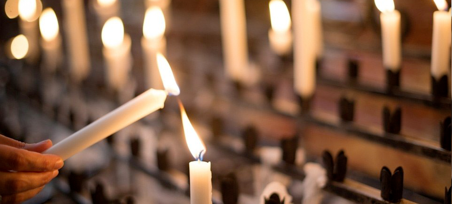 place worship candles