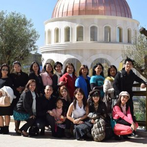 People from many different countries visit the Temple