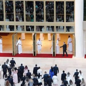 The Levites at the door at the Inauguration of the Temple of Solomon in 2014
