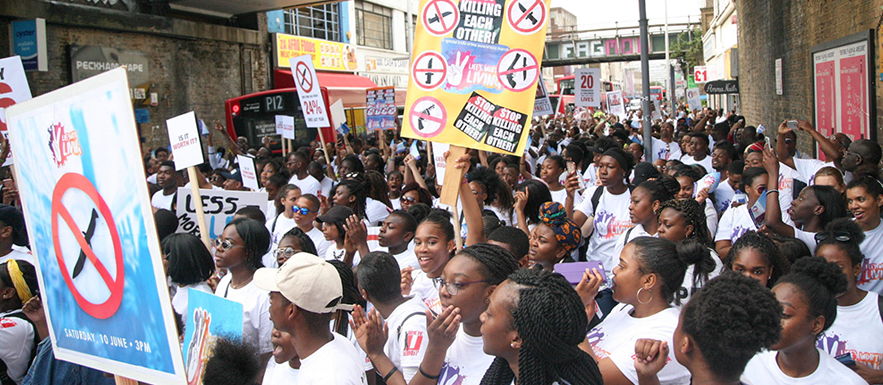 600 Youths March Against Knife Crime