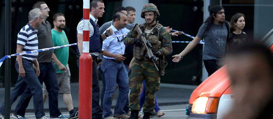 Bomb attack in Brussels Central station