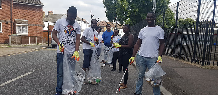 East London Youths Clean Up