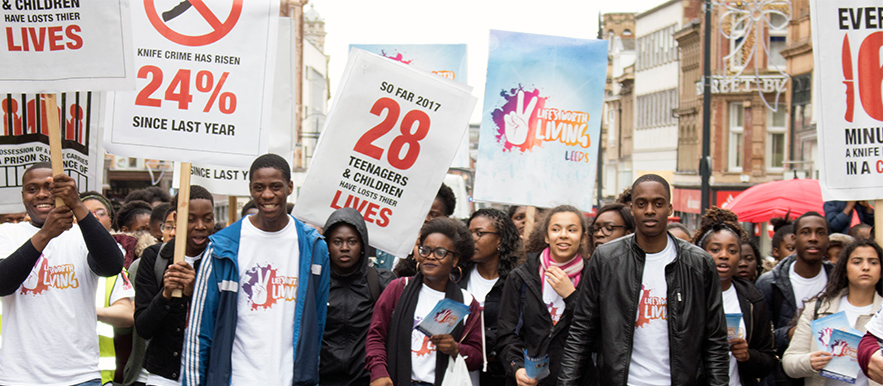 Leeds Youths March Against Knife Crime