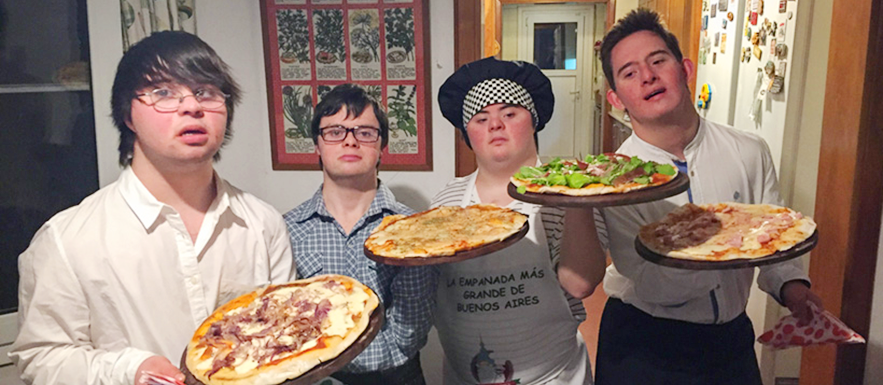 Friends with Down's Syndrome open successful pizzeria