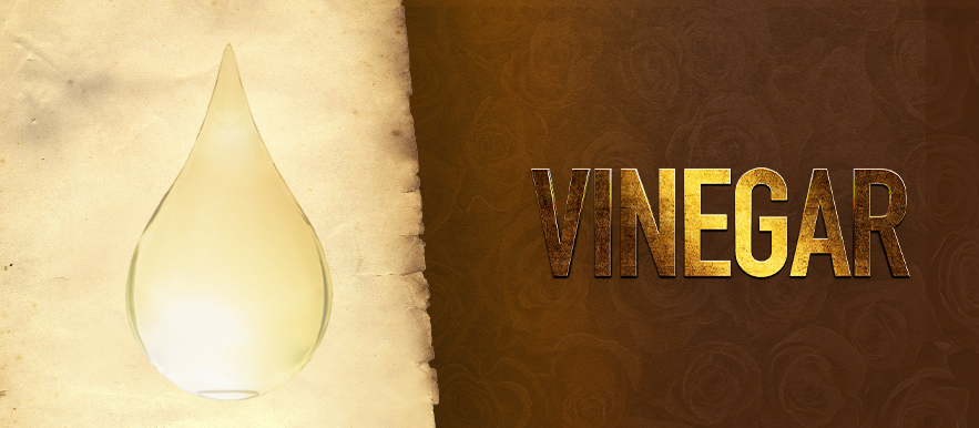 Vinegar, a symbol of completion